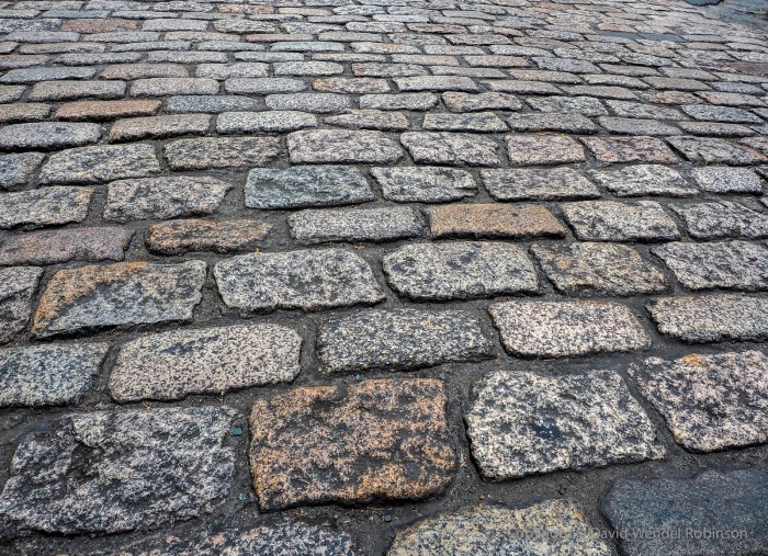 Cobblestone street in Intramuros, the old walled city of Manila