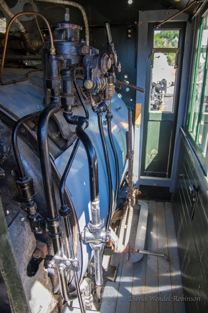 Boiler in train engine locomotive