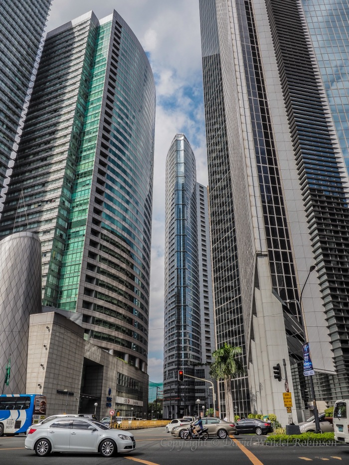 City of Makati with new buildings. March 2015.